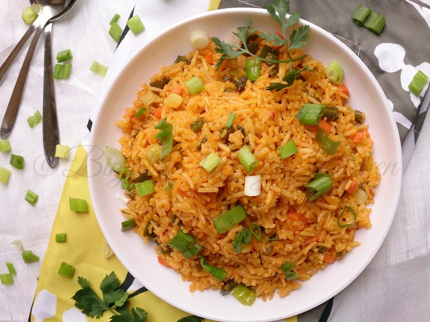 Schezwan Fried Rice Photography
