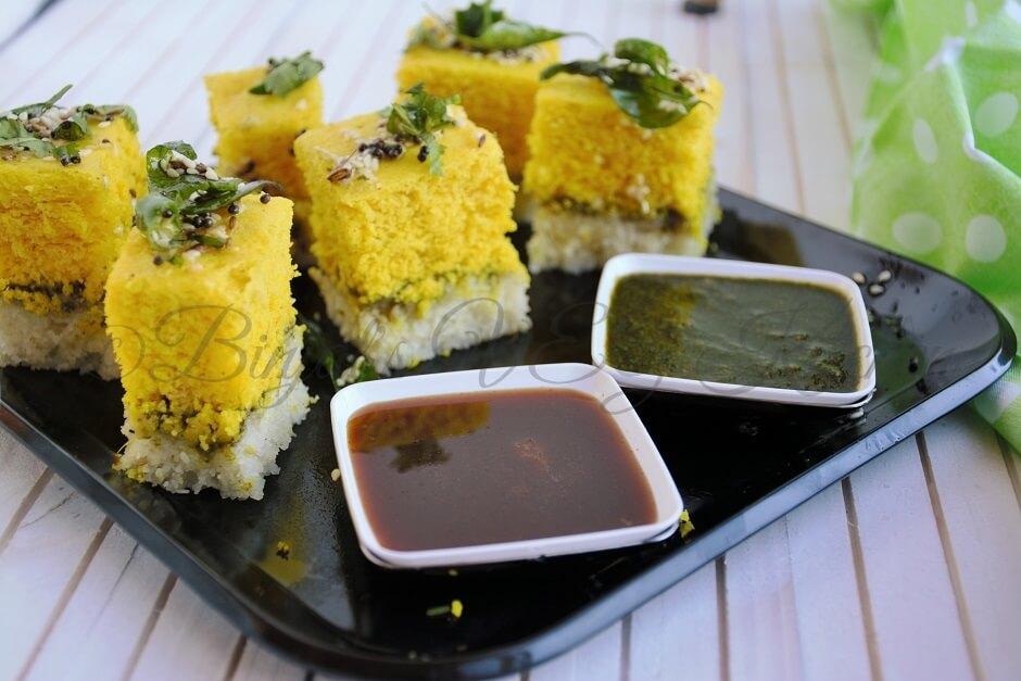 Instant Sandwich Dhokla