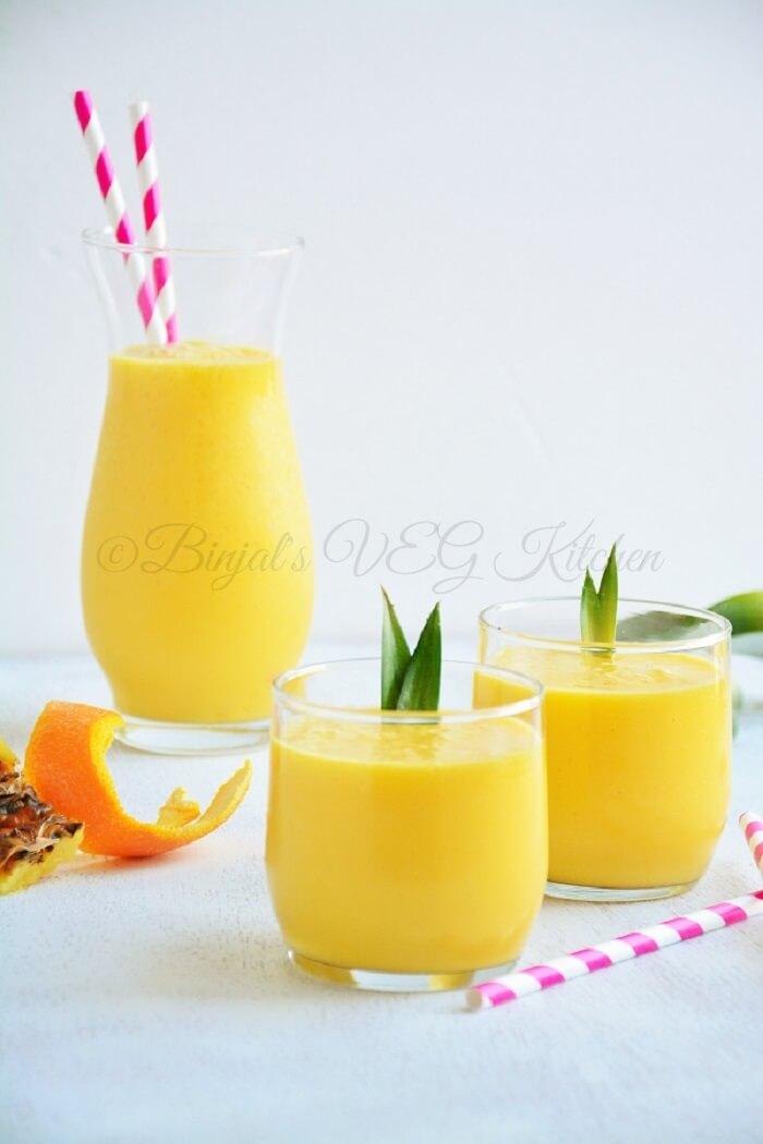 Pineapple Mango Orange Smoothie