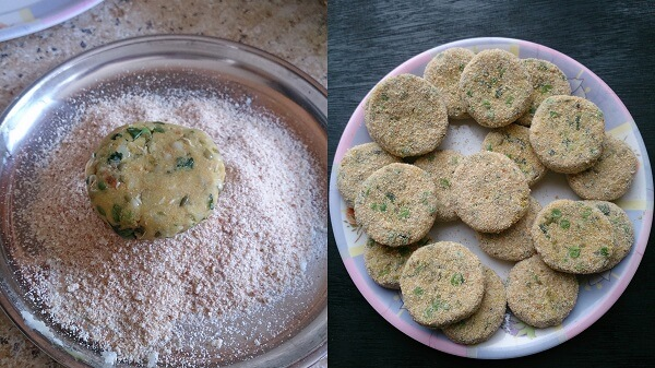 Sprouted Moong Cutlet 4