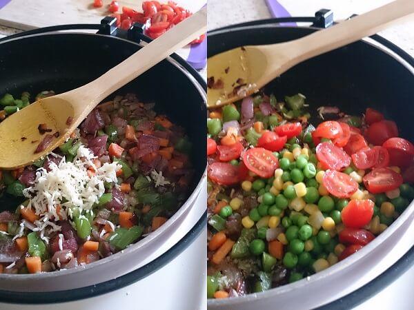 Vegetable Pasta White Sauce 3