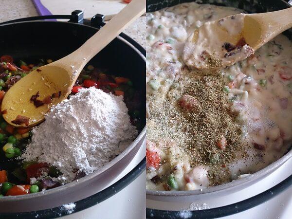 Vegetable Pasta White Sauce 4