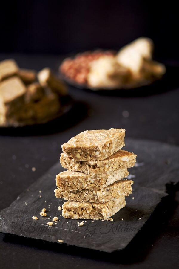 Peanut Flax Seeds Powder Bar Chikki Photography