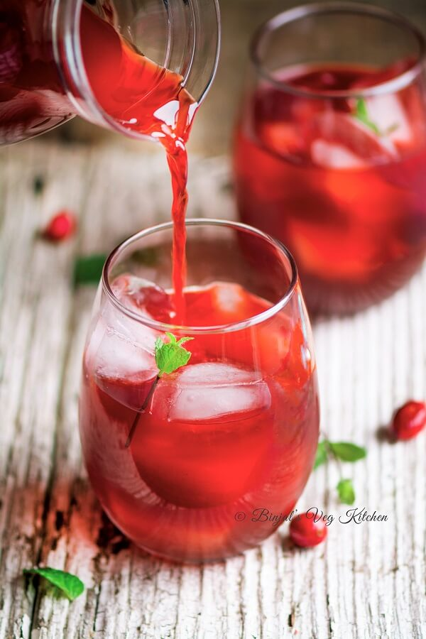 Cranberry Mojito Photogrphy