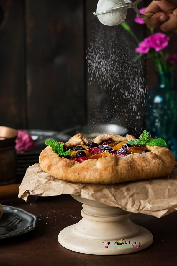 Eggless Mixed Fruit Galette Photography