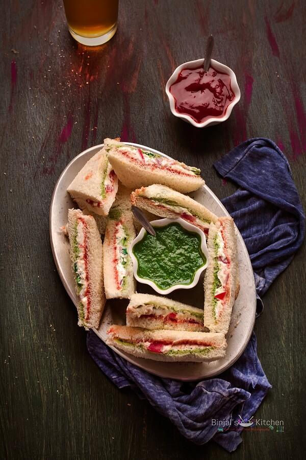 Cream Cheese Sandwich Photography