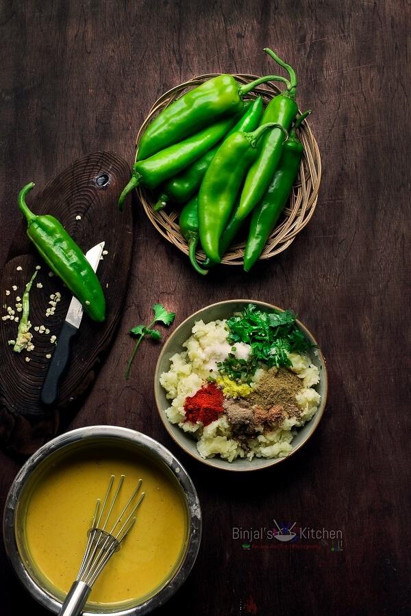 Rajasthani Mirchi Vada Photography