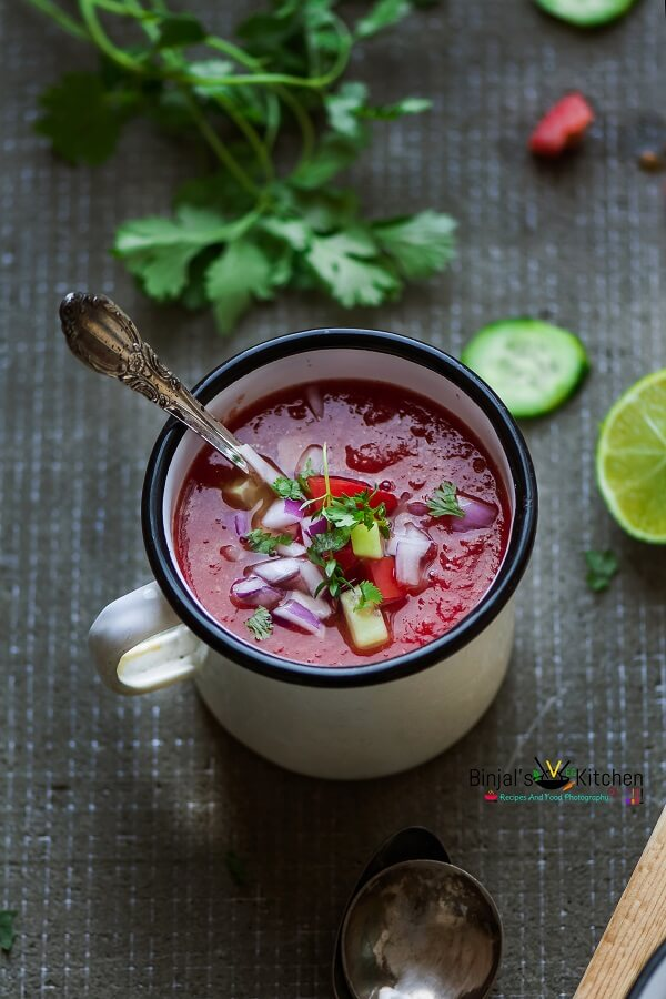 Watermelon Gazpacho Photography